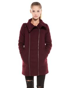 Bershka Romania - BSK zipper detail coat