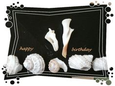 Happy Birthday with Button Shells