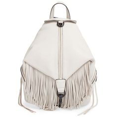 Rebecca Minkoff 'Julian' Backpack (1,480 SAR) ❤ liked on Polyvore featuring bags, backpacks, putty, genuine leather backpack, fringe backpack, leather fringe bag, zip lock bags and leather rucksack