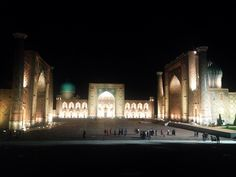 The Registan by night. A fitting portrait and cultural reference to introduce my latest post; Uzbekistan and the Silk Road cities. http://ift.tt/2dm2HIA #silkroad #uzbekistan #samarkand #architecture #adventure #travel #containsgratuitoushospitalityandfeasting