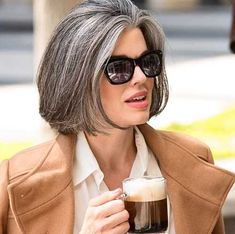 Excellent Silver Short Bob Hairstyles for Older Women to Look Decent and Young. Short Bob Hairstyles for Older Women Are Classic and Favorite Styles for Women with Grey Hair. Here are Accurate and Trendy Short Bob Hairstyles 2 Grey Hair With Purple Highlights, Purple Grey Hair, Short Grey Hair, Short Hair Cuts, Gray Hair, Hairstyles Over 50, Older Women Hairstyles, Short Bob Hairstyles, Cool Hairstyles