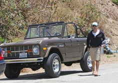 Jeremy Piven is often spotted with his vintage Ford Bronco