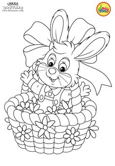 Easter coloring pages - Uskrs bojanke za djecu - Free printables, Easter bunny, eggs, chicks and more on BonTon TV - Coloring books Easter Coloring Pictures, Easter Coloring Sheets, Easter Colouring, Cute Coloring Pages, Free Printable Coloring Pages, Coloring Books, Free Printables, Easter Activities For Preschool, Easter Fabric