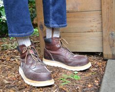 Let's get to work- Wigwam work socks and work boots.