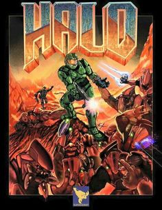 The classic poster for Doom but with the chief and everything Halo. Check out all my other video game related artwork! Odst Halo, Halo Funny, Doom 2016, Halo Armor, Halo Spartan, Halo Game, Halo 5, Halo Master Chief, Halo Series