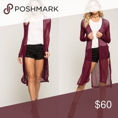"""Wine Red Duster Cardigan NO TRADES FIRM PRICE BUNDLES SAVE 10%  