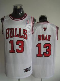 Chicago Bulls NBA Shirt  13 Joakim Noah White Jersey Chicago Bulls NBA Shirt   13 Joakim Noah White Jersey c6c7e04f6