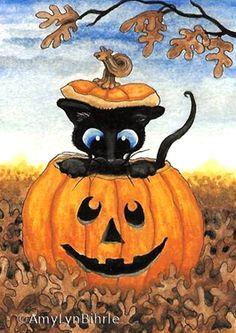 """""""Siamese Jack-o-Lantern"""" par Amy Lyn Bihrl"""