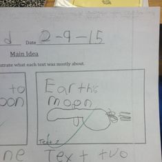 This student who tried to draw a spaceship: