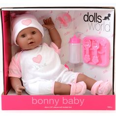 Dolls World Bonny Baby Doll (Black): Amazon.co.uk: Toys & Games