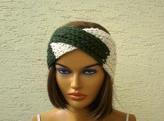 Knitted turban headband cowl ear warmer knit by KnitterPrincess, $12.50