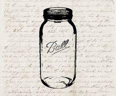 This item is unavailable Mason Jar Art, Ball Mason Jars, Mason Jar Gifts, Download Digital, Digi Stamps, Printable Art, Printables, Stencils, Clip Art