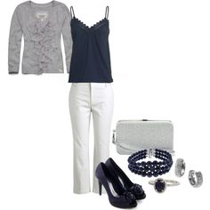 """""""grey white and blue"""" by mms86 on Polyvore"""