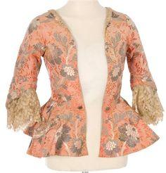 Caraco jacket, mid-18th century.