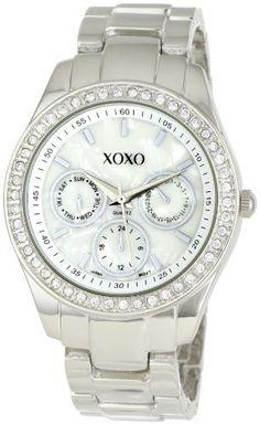 Best Buy XOXO Womens XO5301A Rhinestone Accent Silver-Tone Bracelet Watch at http://get.nazuka.net/review/product.php?asin=B004P0UUBK