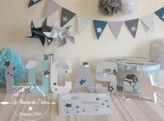 Star and cloud theme baptism presentation, pastel blue, oil and gray www.maison-of-the … Source by maisondesdelice Décoration Baby Shower, Theme Bapteme, Western Decor, Pastel Blue, Home Decor Styles, Communion, Christening, Presentation, Invitations