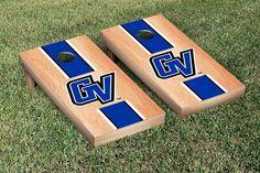 Grand Valley Lakers Hard Court w/ Varsity Stripe Cornhole Game