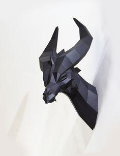 Black Dragon by Paperwolf. DIY Papercraft Kit