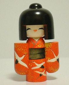 Porcelain Tile From China Cold Porcelain, Porcelain Tile, Origami Folding, Paint Line, Kokeshi Dolls, Wooden Dolls, Collector Dolls, Floral Design, Geishas