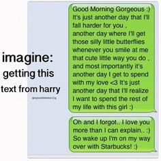 Imagine getting a text from Harry Styles.