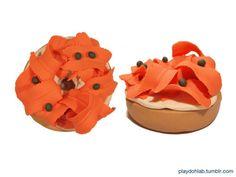 bagel with lox and cream cheese playdoh style #playdoh #playdough