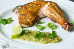 Smoked Chicken with Homemade Tomatillo Salsa | Civilized Caveman Cooking Creations