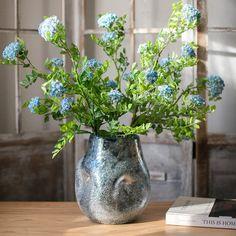 Bloomsbury Market Angalee Blue Indoor / Outdoor Glass Table Vase | Wayfair Decor Pillows, Decorative Pillows, Glass Table, Hand Blown Glass, Colored Glass, Color Mixing, Indoor Outdoor, How To Find Out, Bloomsbury