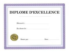 Certificate of study and professional ability French Education, French Lessons, Kids And Parenting, Certificate, Math, Multiplication, Macrame, Bravo, Jimmy