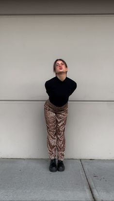 Ootd, outfit post, leopard pants, cute outfit, aesthetic