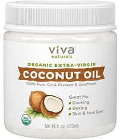 Viva Naturals Organic Extra Virgin Coconut Oil- 7 Best Coconut Oil Brands That You Can Trust Coconut Oil Coffee, Extra Virgin Coconut Oil, Coconut Oil Uses, Benefits Of Coconut Oil, Coconut Oil For Skin, Organic Unrefined Coconut Oil, Benefits Of Organic Food, Healthy Food Options