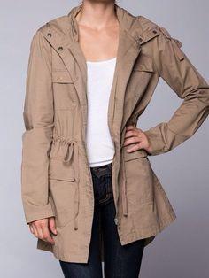 Women's Women's Long Essential Hooded Utility Jacket Olive L Cargo Jacket, Anorak Jacket, Utility Jacket, Indie Fashion, Unique Fashion, Safari Jacket, Trendy Outfits, Military Jacket