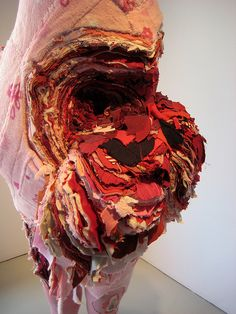 Rack of those Ravaged and Unconsenting -- doreen garner Textile Sculpture, Textile Fiber Art, Soft Sculpture, Textiles, Fashion Illustration Collage, Art Alevel, A Level Art, Environment Concept Art, Gcse Art