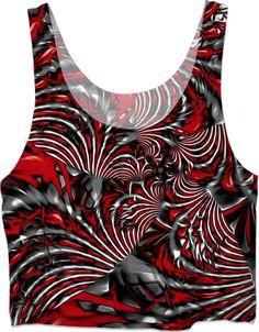 5a2d74ae0d Crimson Burst Fractal. Crimson Burst Fractal Crop Top ...