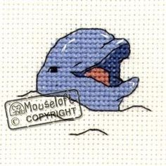 Mouseloft Mini Cross Stitch Kit - Smiling Dolphin, Stitchlets Collection Mouseloft http://www.amazon.co.uk/dp/B003LKKZHE/ref=cm_sw_r_pi_dp_zlXzvb1DMAX46 (So long and thanks for all the fish!)