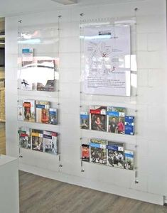 church literature racks wall display - Google Search
