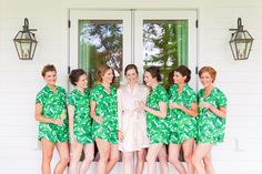 "Photography: @danacubbage ~ Possibly the BEST bridesmaid gift idea - Piyama ""Maggie Pajama Sets"" in Banana Palm Leaf $49 ~ so comfy & cute ~ Shop the Piyama Bridal Boutique: www.etsy.com/au/shop/Piyama"