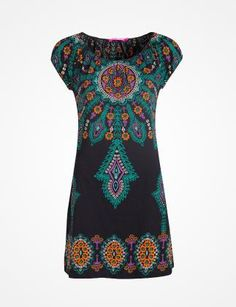 INDISKA dress for hippies. I have this in different colours: yellow, green and purple on black.