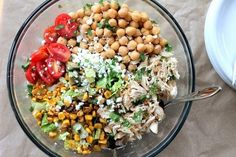 Chicken Chickpea Chopped Salad | 24 Easy Healthy Lunches To Bring To Work In 2015