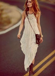 Vestido hippie blanco | Estilo y Belleza