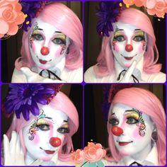 Clown Pics, Cute Clown, Female Clown, Painting Inspiration, Halloween Face Makeup, Clowns, Pictures, Girls, Art