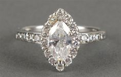 PLATINUM DIAMOND ENGAGEMENT DIAMOND RING MARQUIS CUT (item #1115632, detailed views)