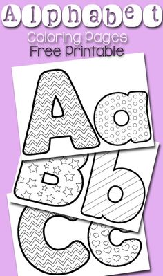 Free printable alphabet coloring pages! These coloring pages are a fun craft for preschoolers who are learning the alphabet! Let your little students practice the alphabet with these fun coloring sheets! Preschool Literacy, Preschool Letters, Preschool Printables, Abc Printable, Free Printable Alphabet Letters, Alphabet Templates, Printable Crafts, Preschool Alphabet Activities, Alphabet Stencils