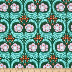 Amy Butler Violette French Twist Jade from @fabricdotcom  Designed by Amy Butler for Westminster Fibers, this cotton print fabric is perfect for quilting, apparel and home decor accents. Colors include orange, lavender, white, green and blue.