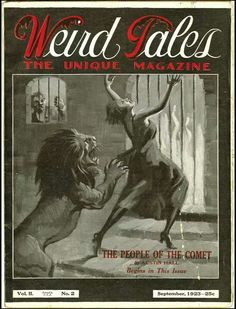 Weird Tales Magazine Sept. 1923