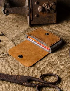 Cardholder and coin purse made of classic saddle Crazy Horse leather, it's one of our favorite, really beautiful color and texture. We got just few leathers so this is limited edition series, hurry if