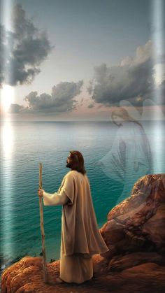 Jesus by the water