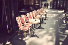 Parisian cafe chairs.