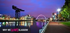 This is a pic of our glorious Clydeside at night - many of you will recognise the bridge, officially named the Clyde Arc, but most commonly called by the Squinty Bridge by most Glaswegians.