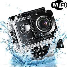 Pictek WIFI Sports Action Camera, 2.0Inch 12MP 170 Degree…