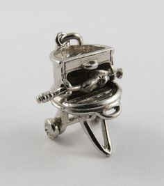 BBQ Rotisserie With Chicken Mechanical Sterling Silver Vintage Charm For Bracelet by SilverHillz on Etsy https://www.etsy.com/listing/463844033/bbq-rotisserie-with-chicken-mechanical